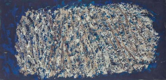 10_Benard Réquichot, Ciel Prolifique, 1960,vpeinture huil sur papier marouflé sur toile, 88 x 174 cm