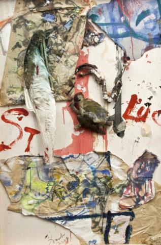 10_Saint-Luc, 2001, 120x80cm, Boite, technique mixte et collages