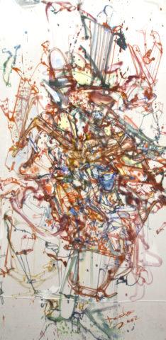 11_ Sans titre, 2002, huile sur draps, 229 x 107 cm