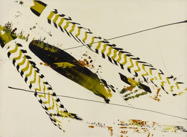 11_1957, Sans titre, peinture synthétique sur toile, 73 x 100 cm