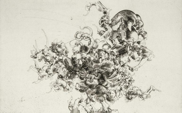 11_La dernière tentation, eau-forte, 24,8 x 39,2 cm
