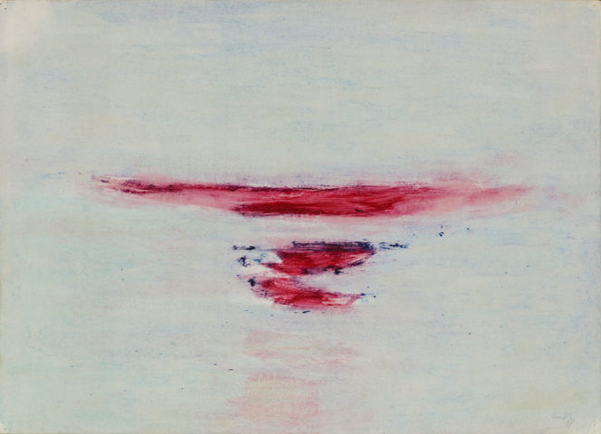 11_René Laubiès, Sans titre, 1988, huile sur papier marouflé sur toile, 51 x 71 cm
