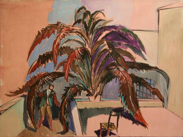 13_Jean Hélion_Palmier-1982-acrylique-sur-toile-97-x-130-cm
