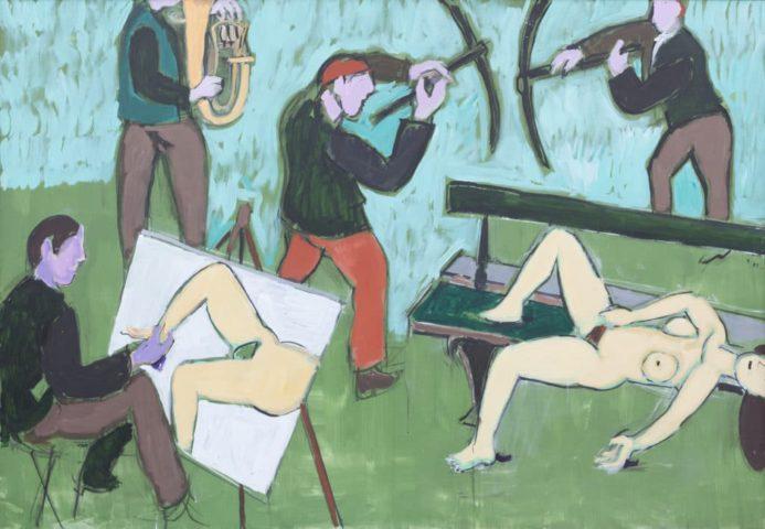 14_Jean Hélion_Trombone pour un peintre, 1983_acrylique sur toile_175 x 250 cm
