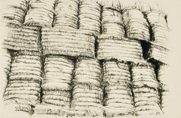 1_Forteresse de paille, 2005, gravure, 12,9 x 19,3 cm