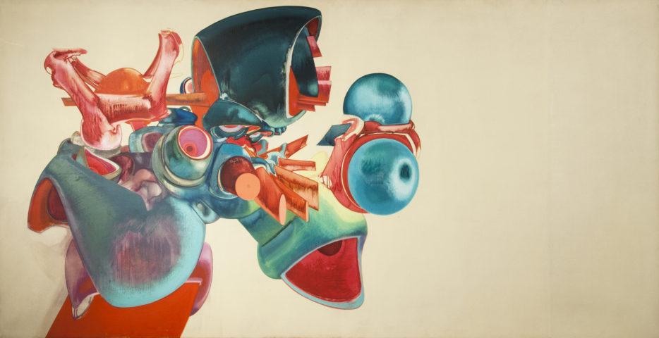 1_Sans titre, 1968, huile sur toile, 97 x 195 cm
