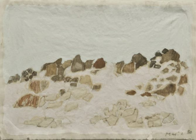 1_Zoran Music, Sans titre, 1980, aquarelle, 20 x 27,5 cm