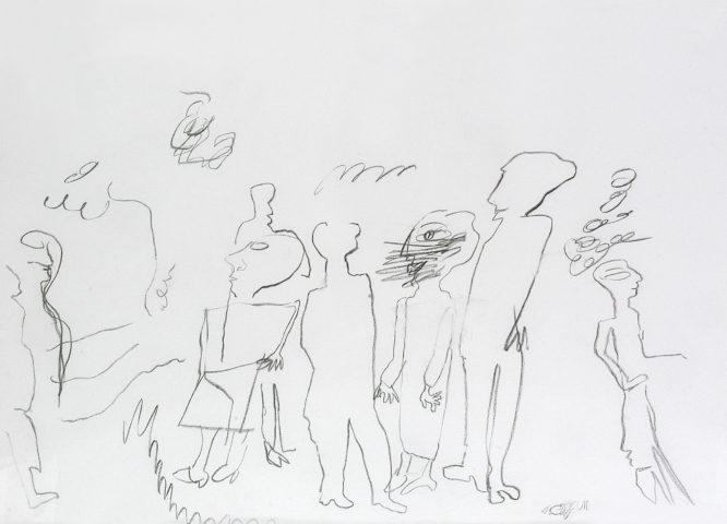 2_Aurel Cojan, Saint-Paul, 1998, fusain sur papier, 23 x 31,5 cm