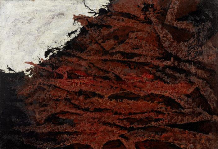 2_Bernard Réquichot, Rivage lunaire, 1955, huile sur toile, 69 x 97 cm