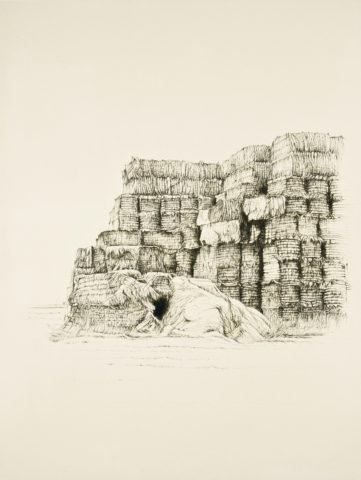 2_Forteresse de paille, 2005, gravure, 26,9 x 20,7 cm