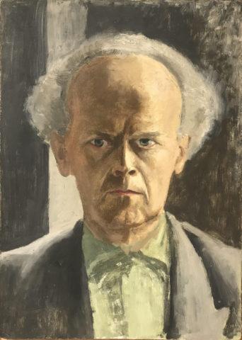 2_Karl Godeg, Autoportrait, circa 1956, huile sur toile, 50 x 35 cm