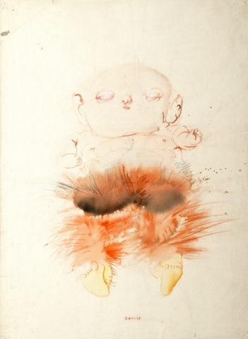 2_Sans titre, 1958, Lavis sur papier, 74,5 x 54,5 cm