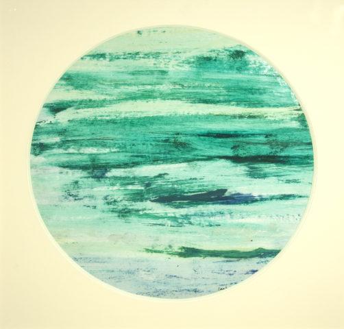 2_Sans titre, 1959, tondo, huile sur papier, diamètre 38 cm