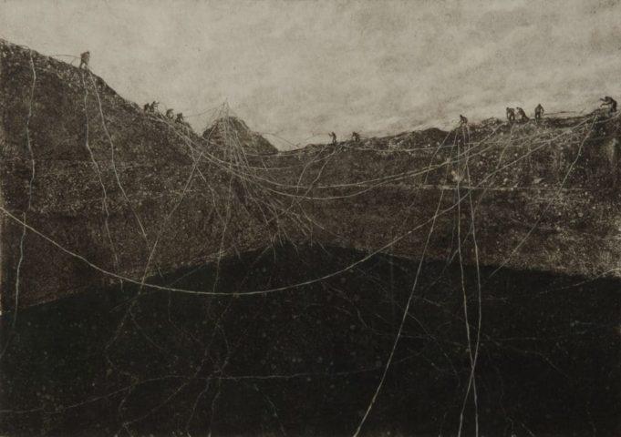 2_Sans titre, 2017, Monotype et technique mixte, 29,7 x 42 cm