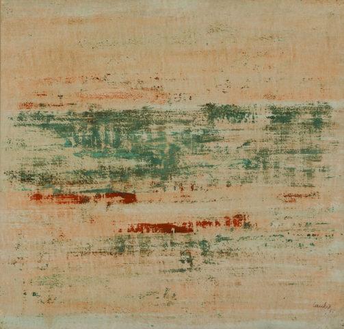 3_ Laubiès, Sans titre, 1963, huile sur papier marouflé sur toile, 54 x 56,5 cm
