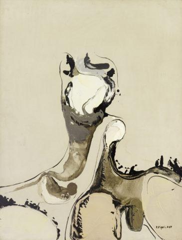 3_1956, Sans titre, huile au couteau sur toile, 78 x 60 cm