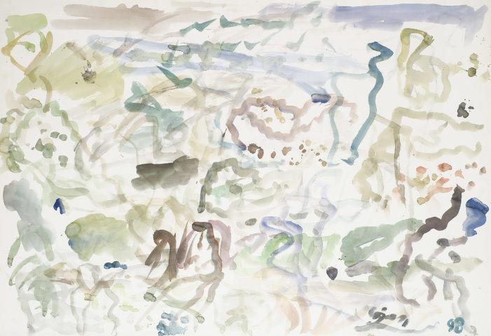 3_Aurel Cojan, Paysage de campagne, 1998, aquarelle sur papier, 80 x 120 cm