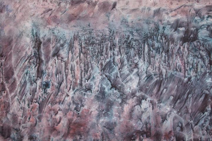 3_Hong Insook, Trace, 2013, gouache et encre de Chine sur papier, 80 x 120 cm
