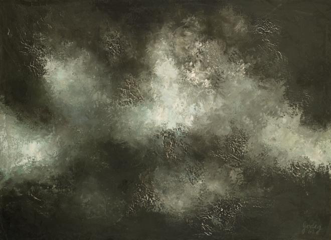 3_Karl Godeg, Sans titre, 1961, huile sur toile, 72 x 100 cm