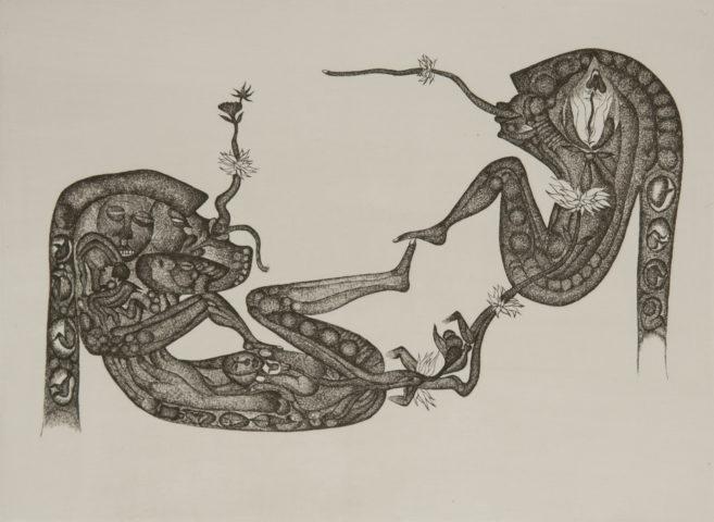 3_Sans titre, d'après Fred Deux, 1959, eau-forte, 16,5 x 22,5 cm