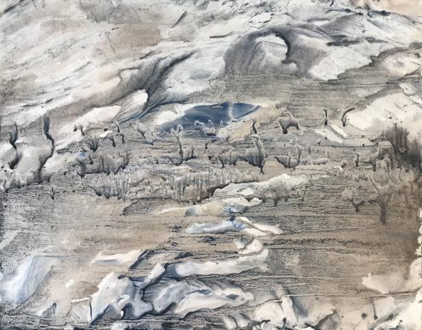 4_Hong InSook, Trace, 2020, gouache et encre de Chine sur papier, 50 x 64,5 cm 3
