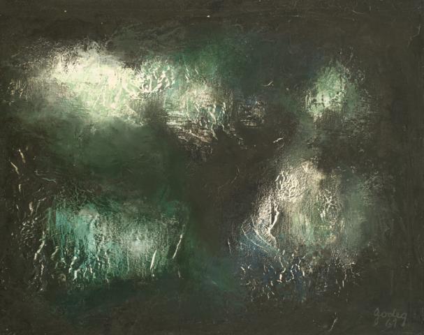 4_Karl Godeg, Sans titre, 1961, huile sur toile