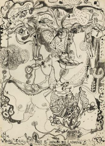 4_Michel Macréau, « Couple », 1964, encre de Chine sur papier, 51 x 37 cm