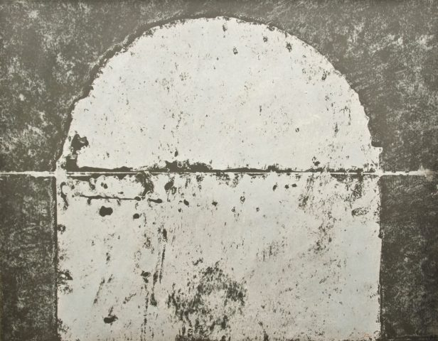 4_N°25110A, huile sur papier marouflé sur carton, 2010, 56,8 x 73,2 cm