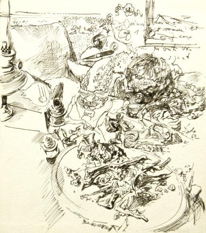 4_Sans titre, 1961, encre de Chine sur papier, 21,5 x 19 cm