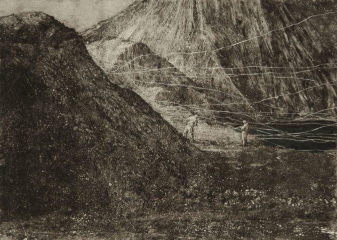 4_Sans titre, 2017, Monotype et technique mixte, 70 x 33 cm