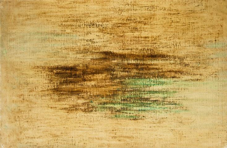 5_René Laubiès - sans titre, 1964, huile sur papier marouflé sur toile, 67 x 102 cm