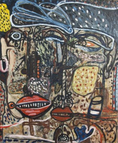 6_1964, couple, huile sur toile, 55 x 46 cm