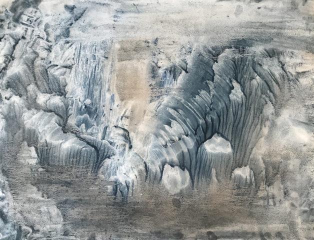 6_Hong InSook, Trace, 2020, gouache et encre de Chine sur papier, 50 x 64,5 cm 4