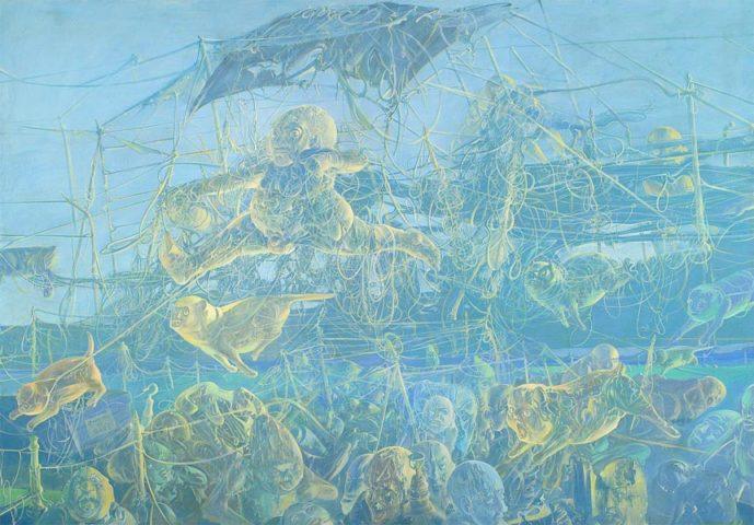 6_Le Camping de Bari, 1971, huile sur toile, 193,5 x 278 cm