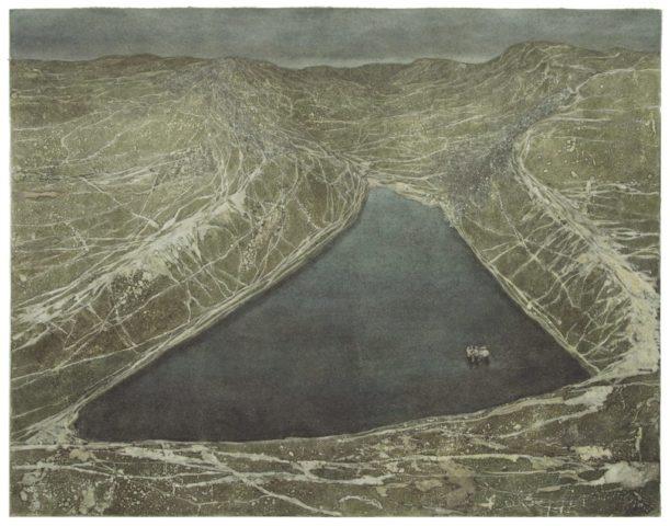 6_Le baptême, 2018, monotype et techniques mixtes, 48,5 x 62 cm