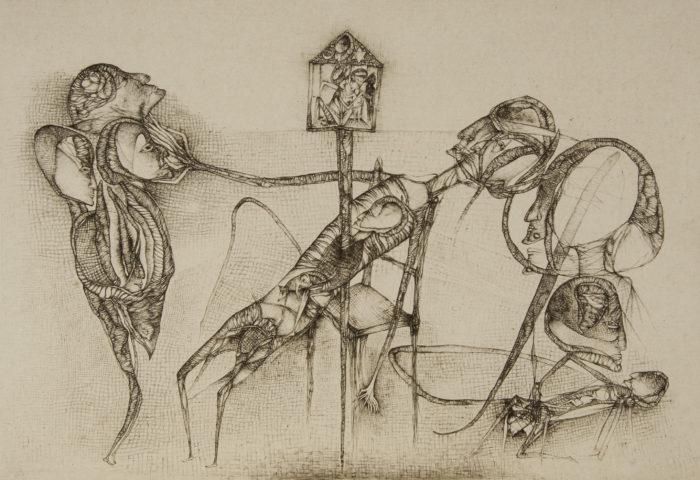 6_Le reliquaire lituanien, d'après Fred Deux, 1999, gravure, 30 x 43 cm