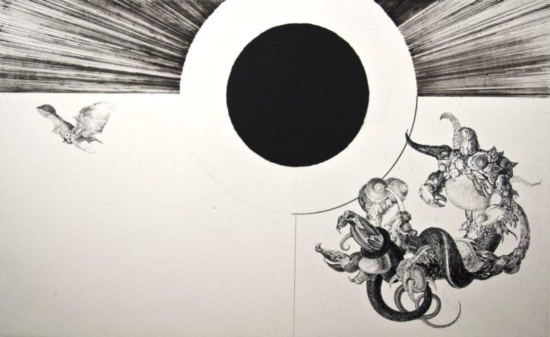 6_Lunven, Le printemps de Pluton, 1964, Gravure, 24,5 x 39,2 cm