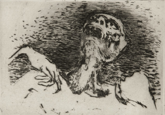 6_Nous ne serons pas les derniers, 1975, gravure, 11,9 x 16,8 cm