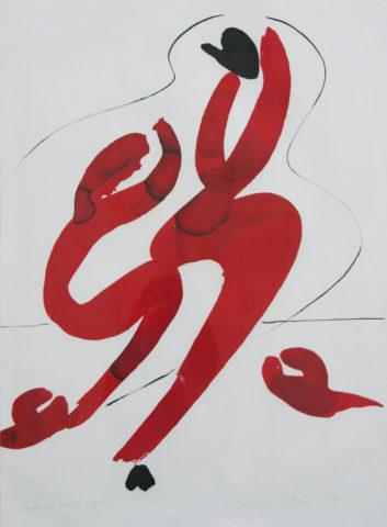 6_René Duvillier, Cheveaux de mer, 1955, lithographie, 76 x 56 cm