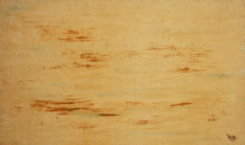 6_René Laubiès, Shiraz, 1968, huile sur papier marouflé sur toile, 55 x 90 cm