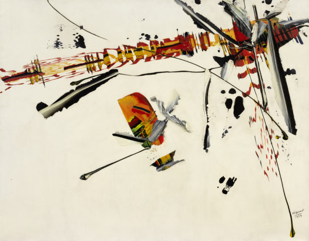 7_Bernard Réquichot, Sans titre, 1957, huile sur toile et collage de prélèvements de peinture à l'huile, 83 x 116 cm