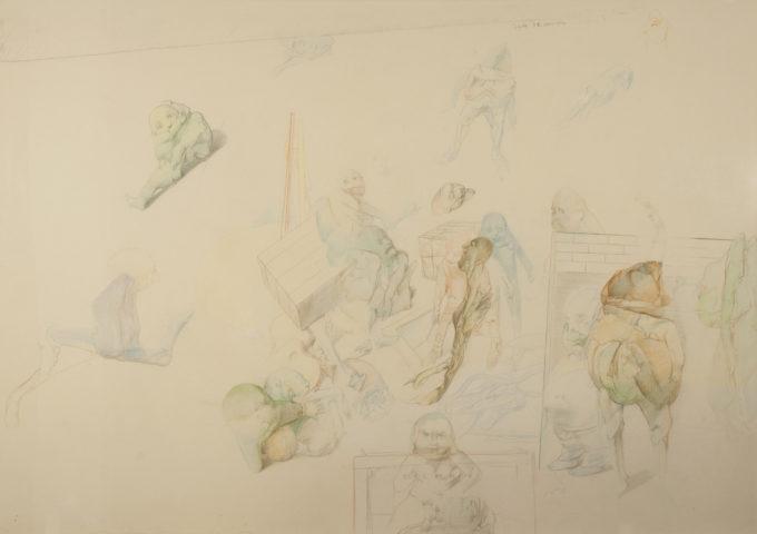 7_Ecole de dessin, 1972, crayon sur papier, 72 x 103 cm