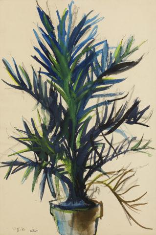 7_Jean Hélion, Sans titre, 1971, gouache aquarellée, 58 x 38 cm