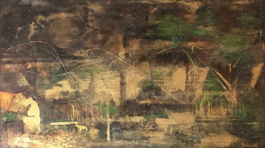 7_Karl Godeg, Sans titre, 1966, huile sur toile, 50 x 94 cm