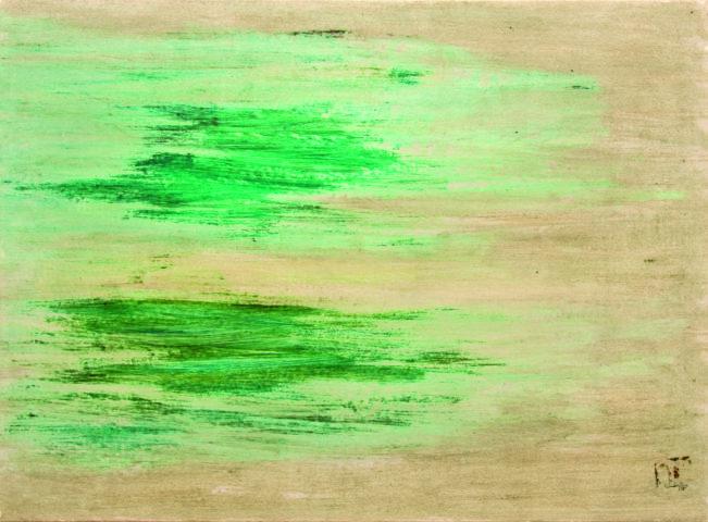 7_René Laubiès, Iran, 1968, huile sur papier marouflé sur toile, 50 x 68 cm