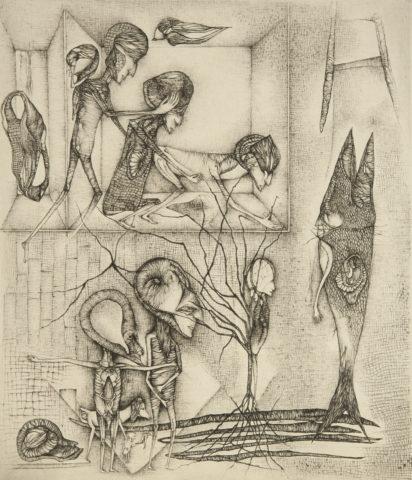 8_Biographie d'un artiste, d'après Fred Deux, 2000, gravure, 41,5 x 31,5 cm