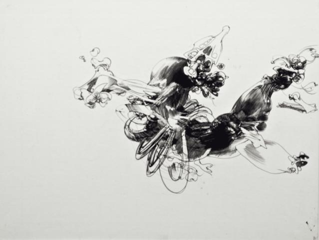 8_François Lunven, Sans titre, 1965, stylo-bille sur papier, 34,5 x 44 cm