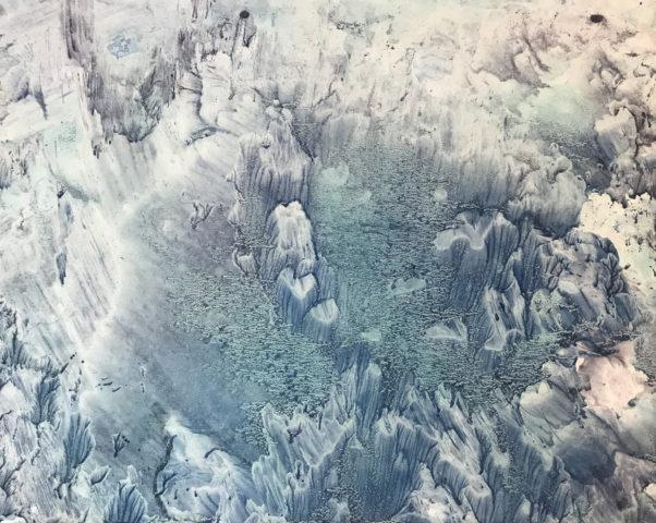 8_Hong Insook, Trace, 2020, gouache et encre de Chine sur papier, 50 x 64,5 cm 6