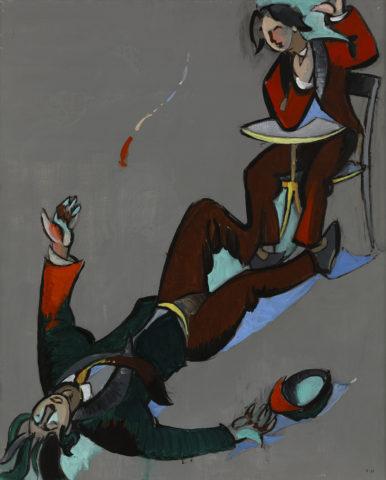 8_Jean Hélion, 1975, La Chute, acrylique sur toile, 101 x 81,5 cm