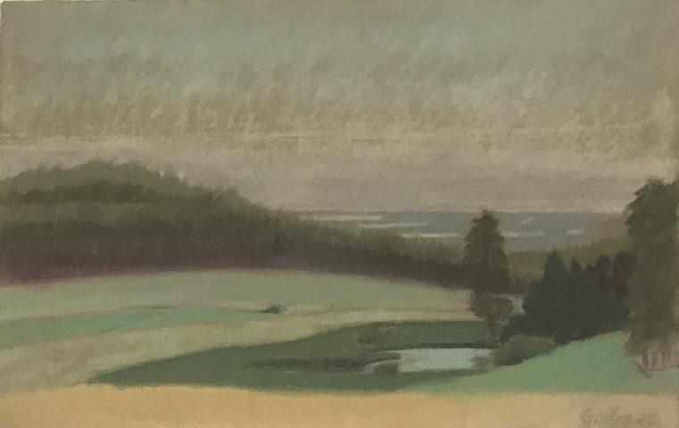 8_Karl Godeg, « Paysage », 1923, pastel sur papier, 20 x 30,5 cm
